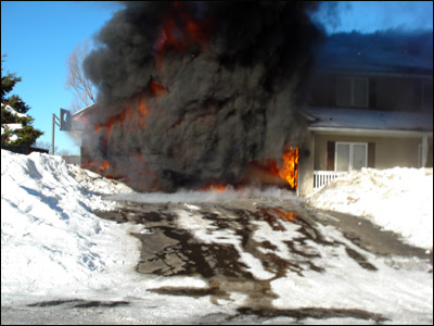 Lakeville, MN, Garage Fire