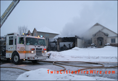 Champlin garage fire, Anoka-Champlin fire, Maple Grove fire