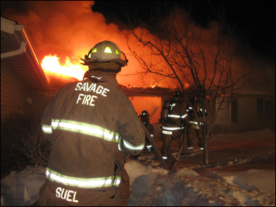 Savage firefighter, Minnesota firefighter, Townhouse fire