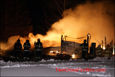 Andover house fire, Andover firefighter