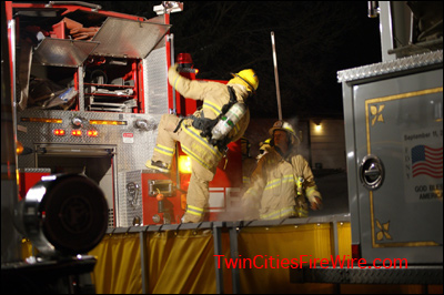 Andover house fire, tanker operations, water shuttle