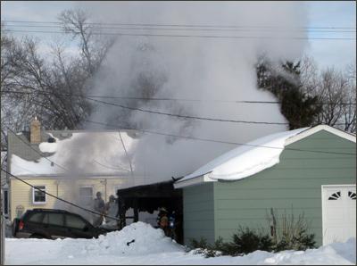 West St. Paul, MN, Garage fire, South Metro Fire Dept., MN