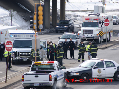 Allina Ambulance Accident, Anoka, Minnesota, Anoka-Champlin Fire Department