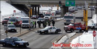 Anoka-Champlin Fire, Anoka, Minnesota, Allina EMS, Ambulance Crash