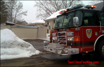 Inver Grove Heights Fire, Garage Collapse, Minnesota