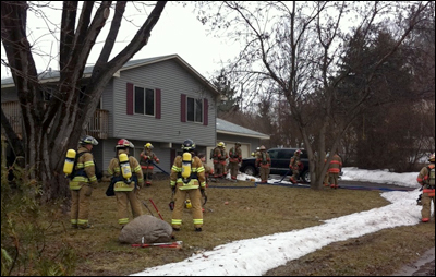 Roseville firefighter, Roseville, Minnesota, House Fire, Roseville Fire Minnesota