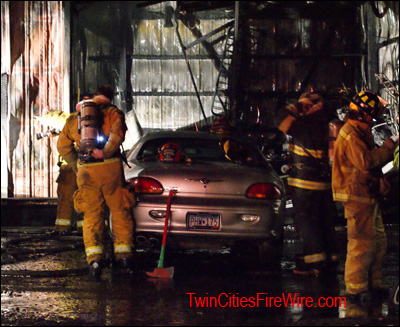 Brooklyn Park Firefighter, Minnesota, Mutual aid, Garage Fire, Twin Cities Fire Wire