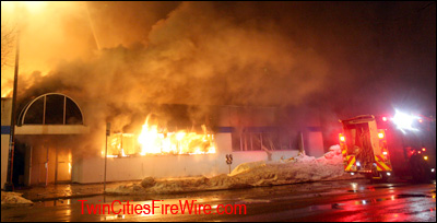 Minneapolis Fire, Bloomington Lake Clinic Fire, South Minneapolis, Firefighters
