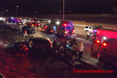 Minnesota State Patrol car struck, Minneapolis firefighter, Officer struck, Twin Cities Fire Wire