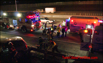 Minnesota State Patrol, Officer Struck, Minneapolis firefighters, Twin Cities Fire Wire, Police car struck