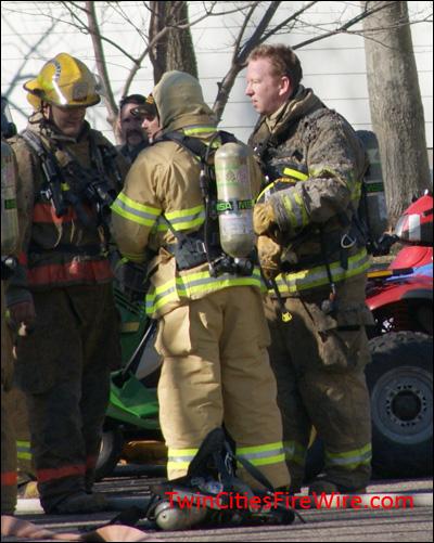 Garage Fire, Fire Twin Cities Fire Wire, Centennial Fire District, Minnesota Firefighter