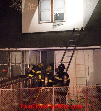 Minneapolis firefighters, Twin Cities Fire Wire, North Minneapolis house fire