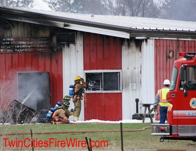 Hugo Warehouse Fire, White Bear Lake Fire, Firefighter, Glamos Wire Products, Twin Cities Fire Wire