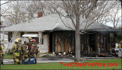 Maplewood Fire, North St. Paul Fire, House Fire, Maplewood, MN, Twin Cities Fire Wire