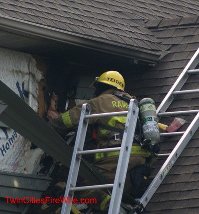 Andover Firefighter, Andover Minnesota, House Fire, Lightning Strike, Anoka County, Fire, Twin Cities Fire Wire