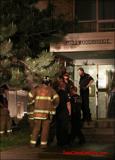 St. Paul, Apartment Fire, Minnesota, Firefighter, Woodbridge Apartments, Twin Cities Fire Wire