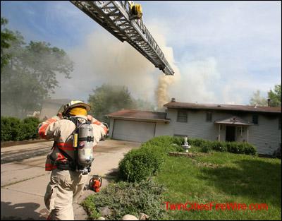 Cottage Grove Minnesota, Cottage Grove Firefighter, House Fire, Minnesota, Blaze, Twin Cities Fire Wire