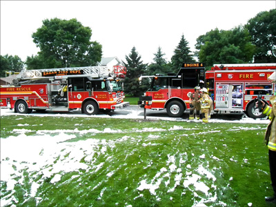Eagan Firefighter, House Fire, Minnesota, Lightning Strike, Eagan Fire Department Photo